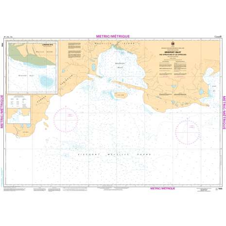 Central and Arctic Region Charts :CHS Chart 7540: Bridport Inlet and Approaches/et Les Approches