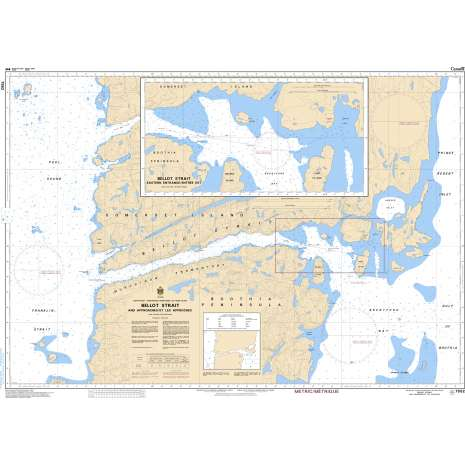 Central and Arctic Region Charts :CHS Chart 7552: Bellot Strait and Approaches/et Les Approches