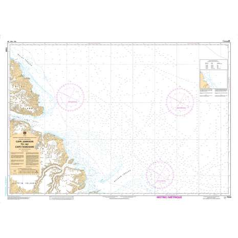 Central and Arctic Region Charts :CHS Chart 7566: Cape Jameson to/au Cape Fanshawe