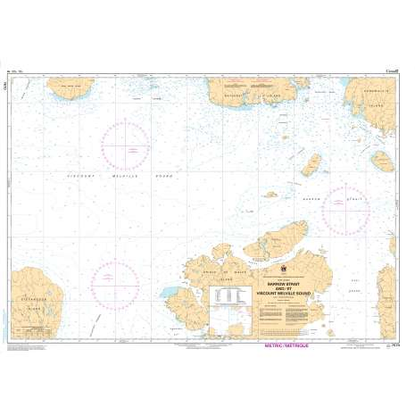 Central and Arctic Region Charts :CHS Chart 7570: Barrow Strait and/et Viscount Melville Sound