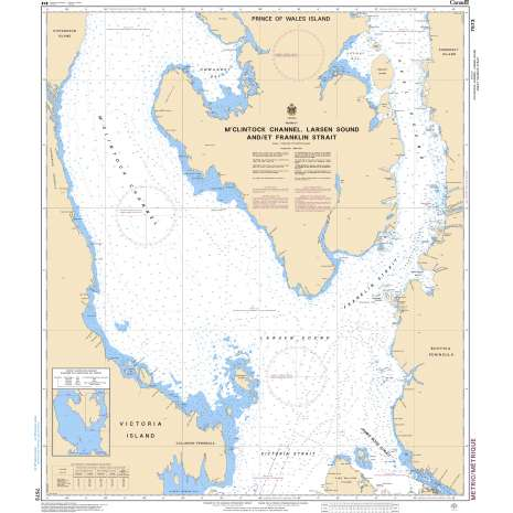 Central and Arctic Region Charts :CHS Chart 7573: M'Clintock Channel, Larsen Sound and/et Franklin Strait