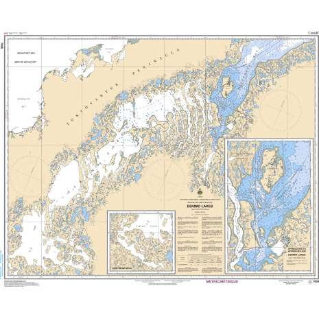 Central and Arctic Region Charts :CHS Chart 7608: Eskimo Lakes