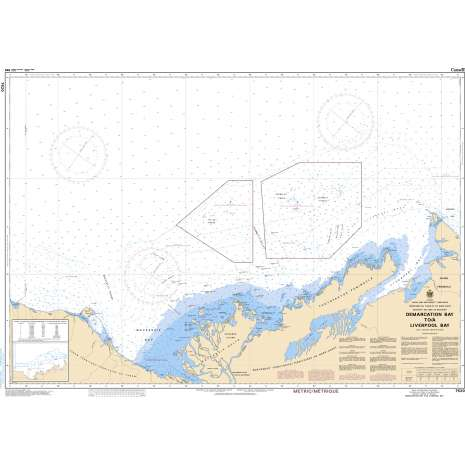 Central and Arctic Region Charts :CHS Chart 7620: Demarcation Bay to/à Liverpool Bay