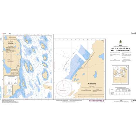 Central and Arctic Region Charts :CHS Chart 7646: McClintock Bay and/et Wilkins Point