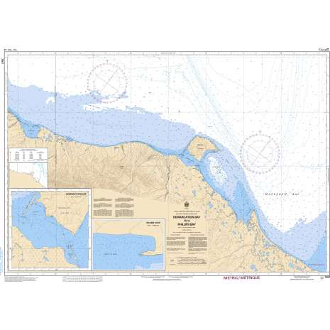 Central and Arctic Region Charts :CHS Chart 7661: Demarcation Bay to/à Philips Bay