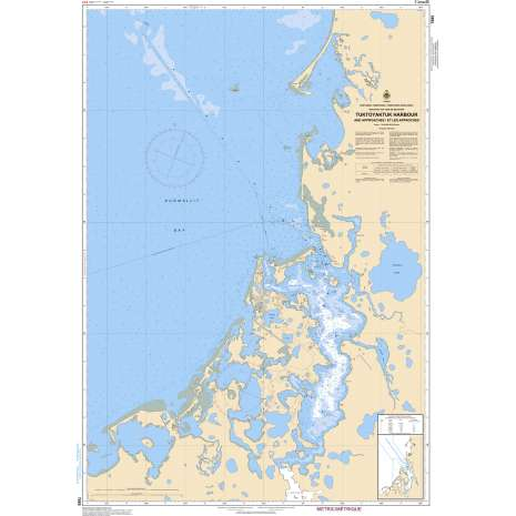 Central and Arctic Region Charts :CHS Chart 7685: Tuktoyaktuk Harbour and Approaches/et les approches