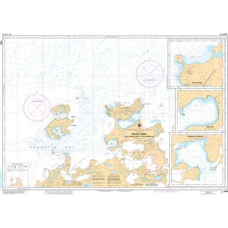 Central and Arctic Region Charts :CHS Chart 7686: Police Point And Approaches/ Et Les Approches