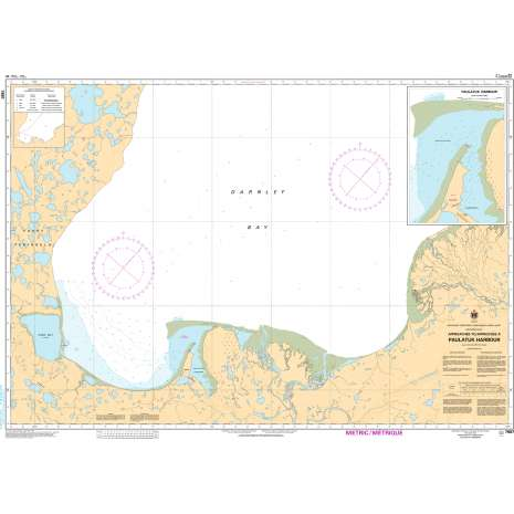Central and Arctic Region Charts :CHS Chart 7687: Approaches to/Approches à Paulatuk Harbour