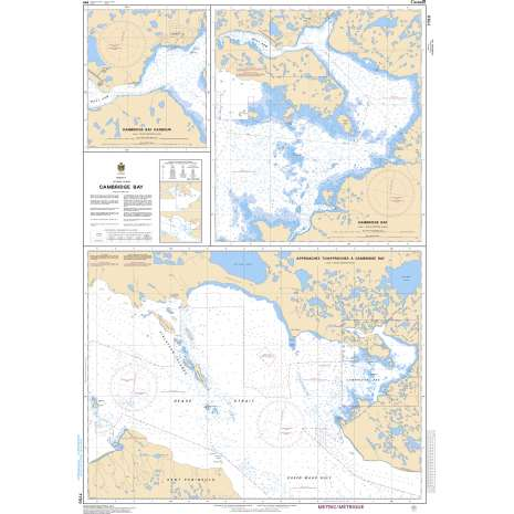 Central and Arctic Region Charts :CHS Chart 7750: Approaches to/Approches à Cambridge Bay