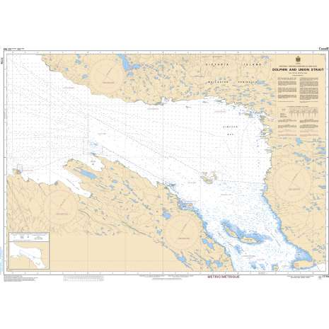 Central and Arctic Region Charts :CHS Chart 7776: Dolphin and Union Strait
