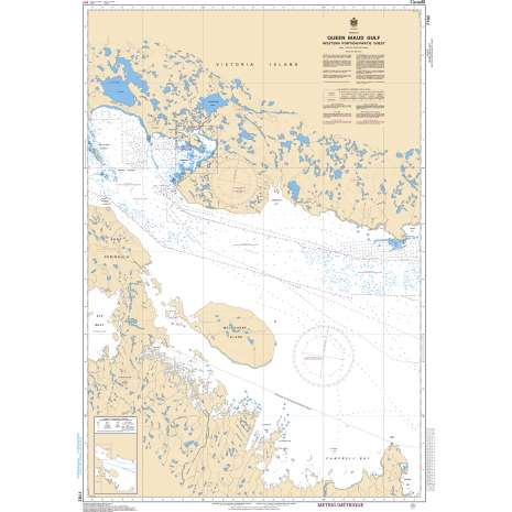 Central and Arctic Region Charts :CHS Chart 7782: Queen Maud Gulf Western Portion/Partie Ouest