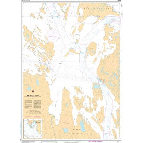 Central and Arctic Region Charts :CHS Chart 7791: Bathurst Inlet - Northern Portion/Partie nord