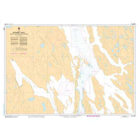 Central and Arctic Region Charts :CHS Chart 7792: Bathurst Inlet - Central Portion