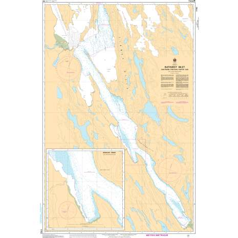 Central and Arctic Region Charts :CHS Chart 7793: Bathurst Inlet - Southern Portion/Partie sud