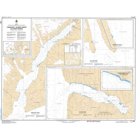Central and Arctic Region Charts :CHS Chart 7920: Tanquary,Slidee and Glacier Fiords