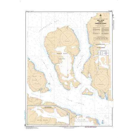 Central and Arctic Region Charts :CHS Chart 7930: Hell Gate and Cardigan Strait