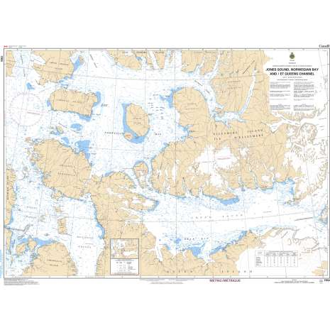 Central and Arctic Region Charts :CHS Chart 7950: Jones Sound,Norwegion Bay and Queens Channel