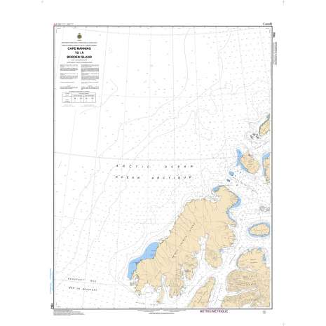 Central and Arctic Region Charts :CHS Chart 7952: Cape Manning to Borden Island