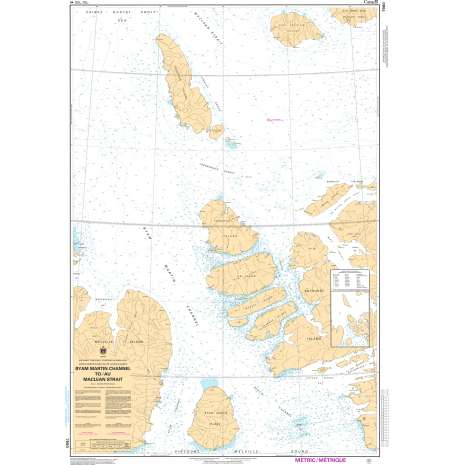 Central and Arctic Region Charts :CHS Chart 7980: Byan Martin Channel to/au Maclean Strait