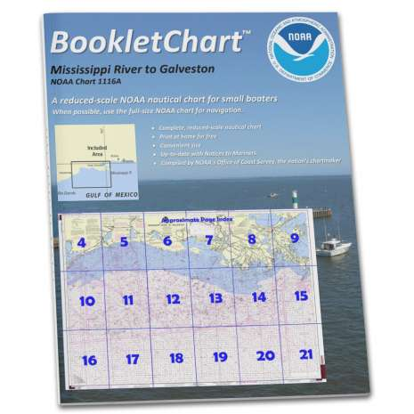 Gulf Coast Charts :NOAA Booklet Chart 1116A: Mississippi River to Galveston (Oil and Gas Leasing Areas)