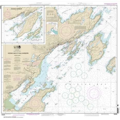 Alaska Charts :NOAA Chart 16595: Kodiak and St. Paul harbors;Kodiak Harbor