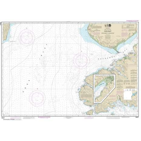 Alaska Charts :NOAA Chart 16647: Cook Inlet-Cape Elizabeth to Anchor Point