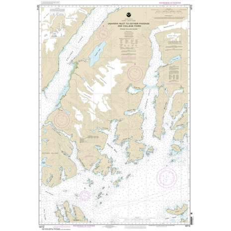 Alaska Charts :NOAA Chart 16712: Unakwik Inlet to Esther Passage and College Fiord