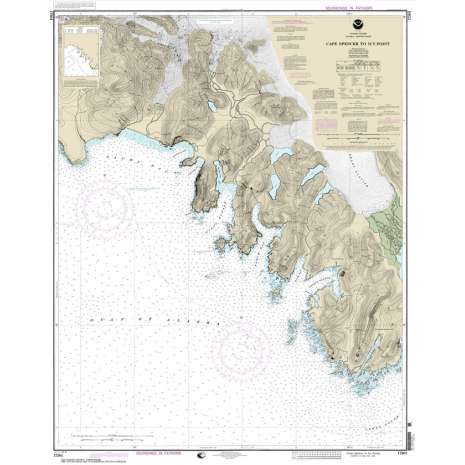 Alaska Charts :NOAA Chart 17301: Cape Spencer to Icy Point