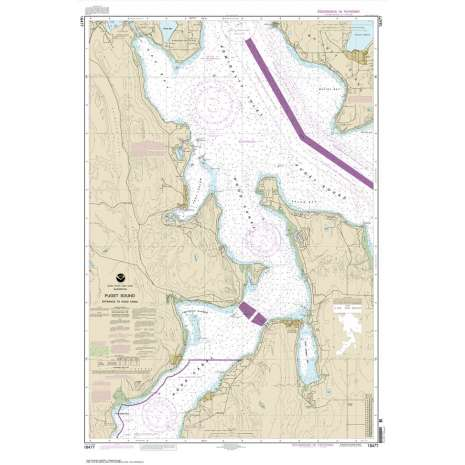 Pacific Coast Charts :NOAA Chart 18477: Puget Sound-Entrance to Hood Canal