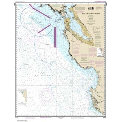 Pacific Coast Charts :NOAA Chart 18680: Point Sur to San Francisco