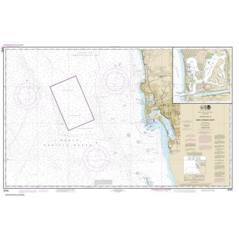 Pacific Coast Charts :NOAA Chart 18765: Approaches to San Diego Bay;Mission Bay