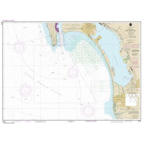 Pacific Coast Charts :NOAA Chart 18772: Approaches to San Diego Bay