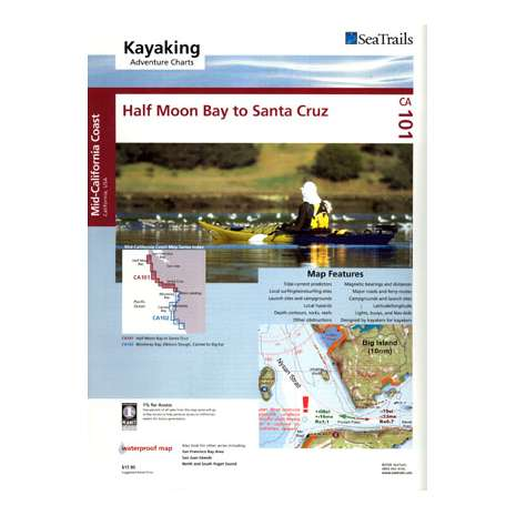 Kayaking, Canoeing, Paddling :Sea Trails Map:  Half Moon Bay to Santa Cruz