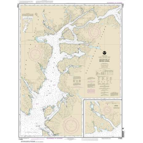 Alaska Charts :NOAA Chart 17422: Behm Canal-western part;Yes Bay
