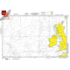 "Miscellaneous International :NGA Chart 102: Western Apprs. To The British Isles, Approx. Size 21"" x 31"" (SMALL FORMAT WATERPROOF)"
