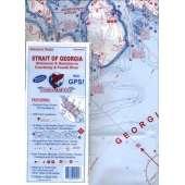 Fishing :Fish-n-Map: Strait of Georgia, Vancouver & Nanaimo to Courtenay & Powell River