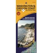 Washington Travel & Recreation Guides :Washington & Oregon Coast Road & Recreation Map