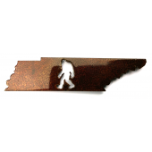 Bigfoot Metal Art :Tennessee Bigfoot Magnet - Bigfoot Gift