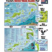 Caribbean Travel Related :British Virgin Islands DIVE MAP & ADVENTURE GUIDE