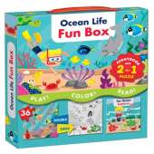 Fish, Sealife, Aquatic Creatures :Ocean Life Fun Box: Includes a Storybook and a 2-in-1 puzzle