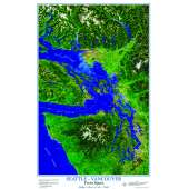 Posters :SEATTLE-VANCOUVER from Space ROLLED POSTER