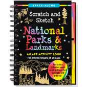Activity Books :Scratch and Sketch: National Parks & Landmarks