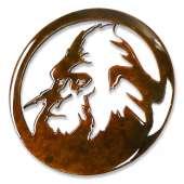 Bigfoot Novelty Gifts :Sasquatch Head Round MAGNET