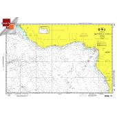 """Miscellaneous International :NGA Chart 105: Freetown To Luanda, Approx. Size 21"""" x 31"""" (SMALL FORMAT WATERPROOF)"""