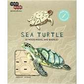 Fish, Sealife, Aquatic Creatures :IncrediBuilds Animal Collection: Sea Turtle 3D Model and Booklet