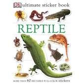 Jungle & Zoo Animals :Ultimate Sticker Book: Reptile
