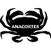 Customs & Named Metal Art :Anacortes Dungeness Crab MAGNET