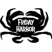 Customs & Named Metal Art :Dungeness Crab w/ Friday Harbor MAGNET