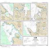 Alaska Charts :NOAA Chart 17423: Harbor Charts-Clarence Strait and Behm Canal Dewey Anchorage: Etolin Island;Ratz Harbor: Prince of Wales Island;Naha Bay: Revillagigedo Island;Tolstoi and Thorne Bays: Prince of Wales ls.;Union Bay: Cleveland Peninsula