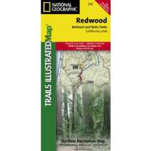 California Travel & Recreation :Redwood National Park (National Geographic Map)
